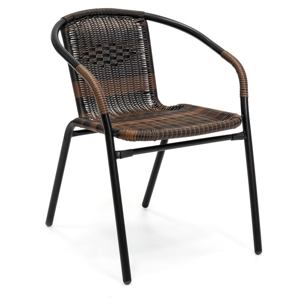 Set of 4 Stackable Wicker Chairs