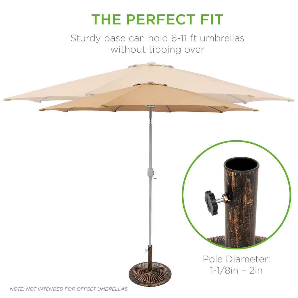 50lb Cast Iron Umbrella Base Stand w/ Detachable Stem