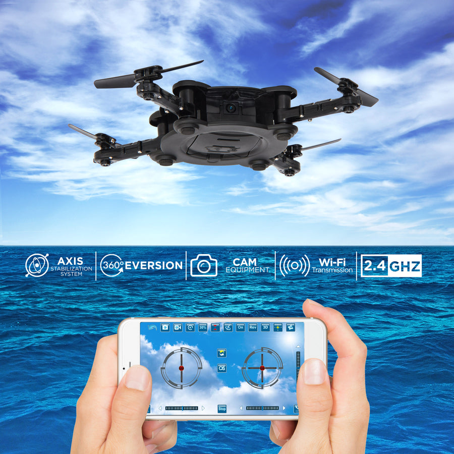 Best Choice Products Smart Phone Control Folding Pocket Mini Drone Gravity Sensor Wifi FPV Camera Quadcopter