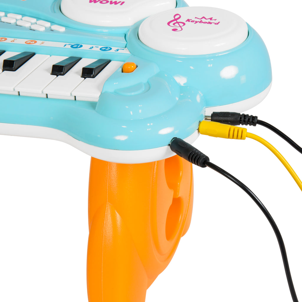 Kids Light Up Electronic Learning Piano Keyboard (Blue)