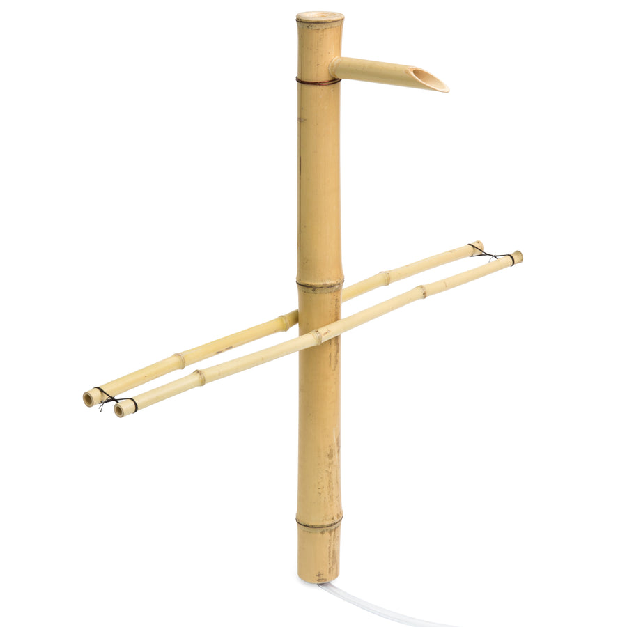Outdoor Bamboo Water Fountain Decor w/ Pump