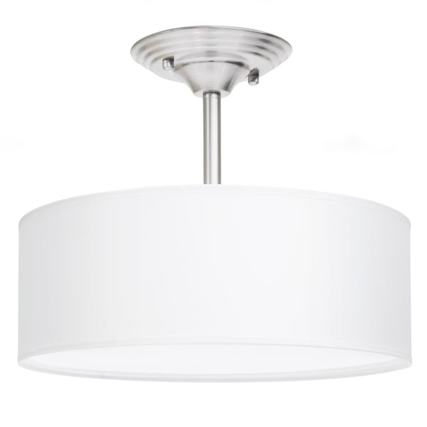 13in Semi-Flush Ceiling Mount Pendant Light Fixture - Brushed Nickel