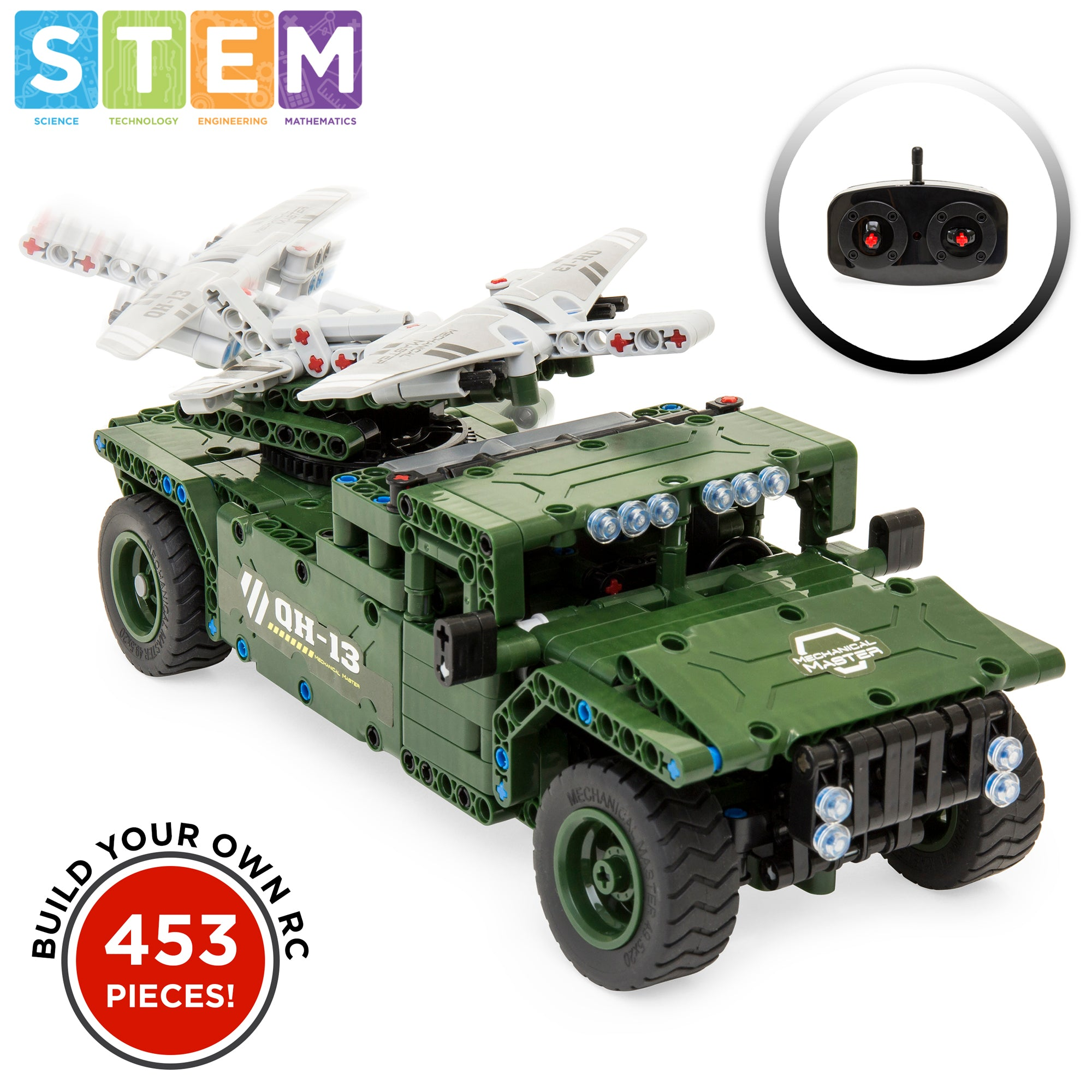 453-Piece RC Military Tank and Airplane Building Block Set