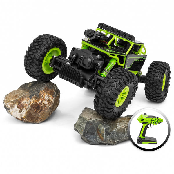 1/18 All-Terrain FPV Real-Time Video Car w/ Built-In Camera - Green
