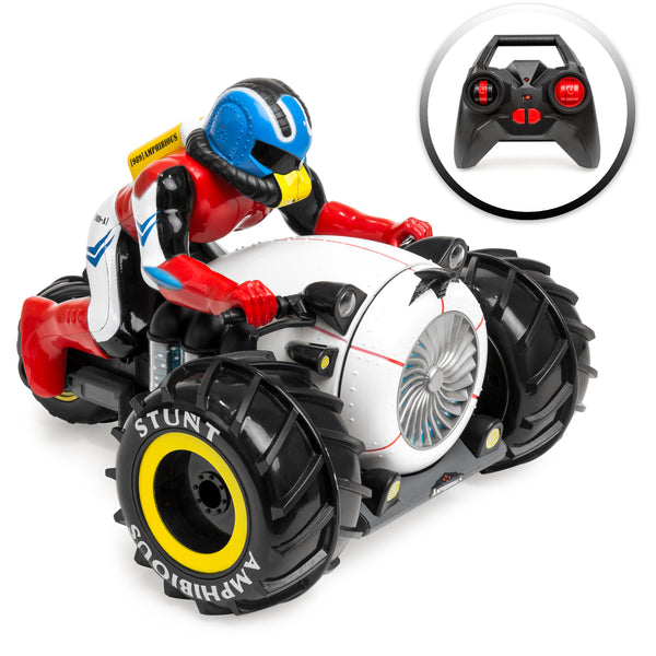 Land & Water RC Stunt Motorcycle w/ Charger