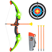 Deals on Kids Light-Up Archery Toy Play Set w/ Bow 3 Arrows