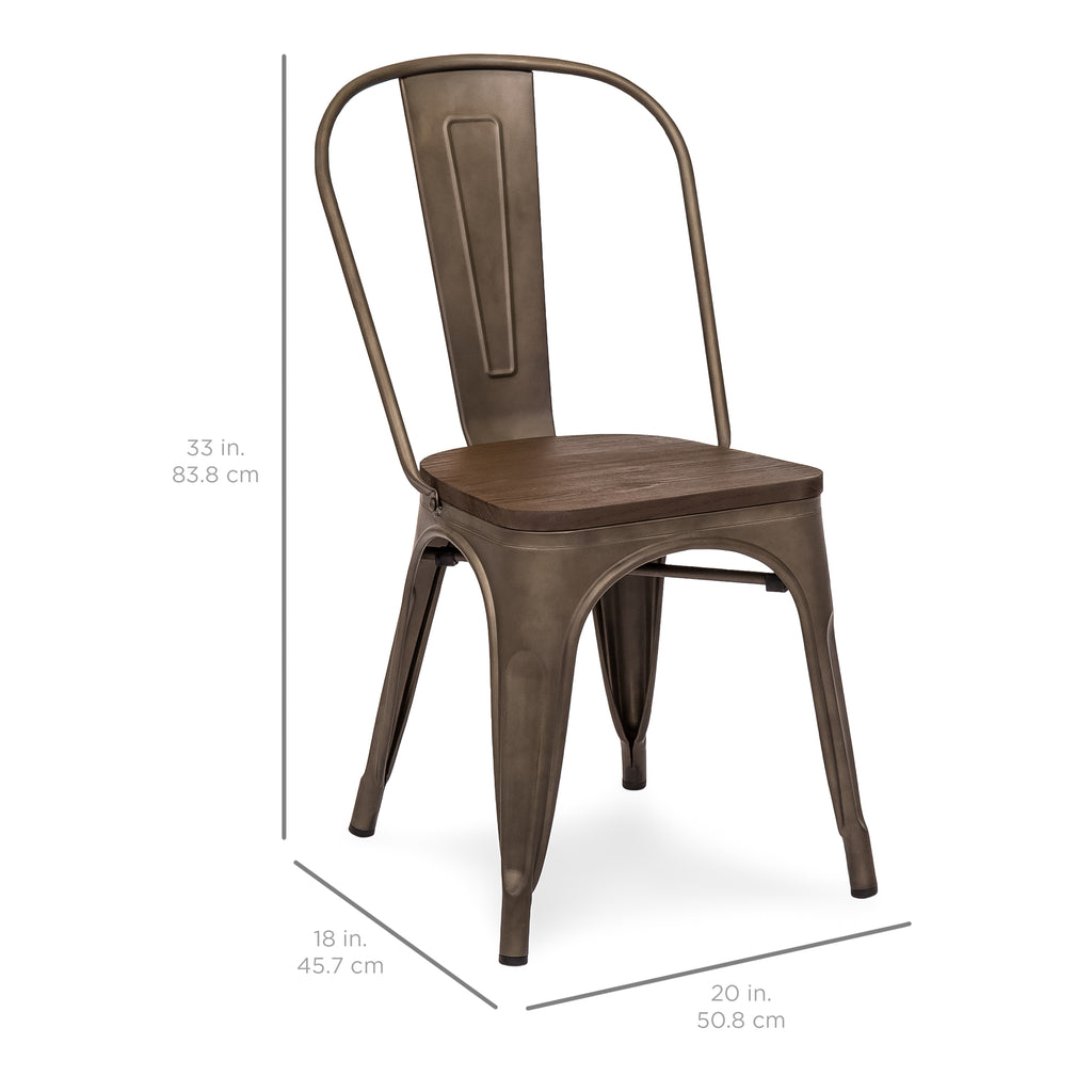 Distressed Metal Dining Chairs Industrial Tolix Chair