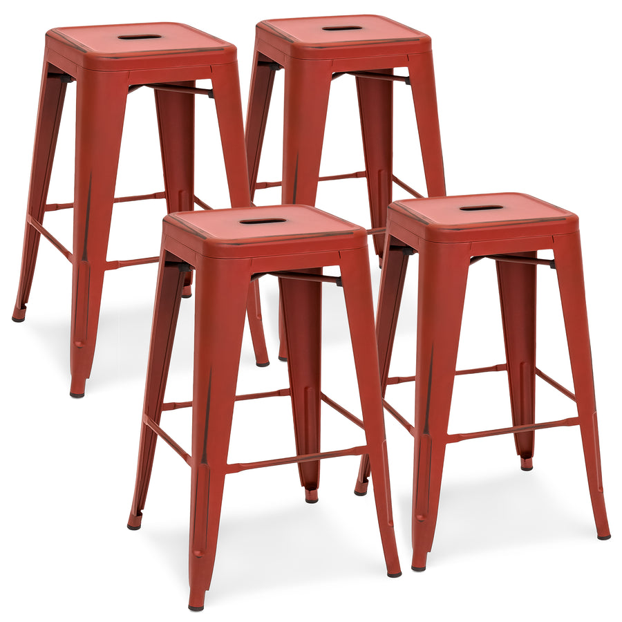 set of 4 bar stools. 24in Set Of 4 Stackable Bar Stools