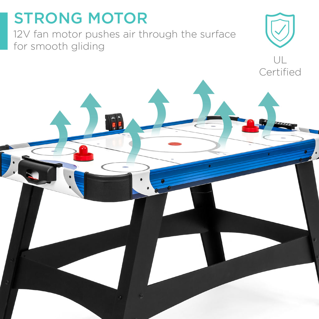 Air Hockey Table w/ 2 Pucks, 2 Paddles, LED Score Board - 58in