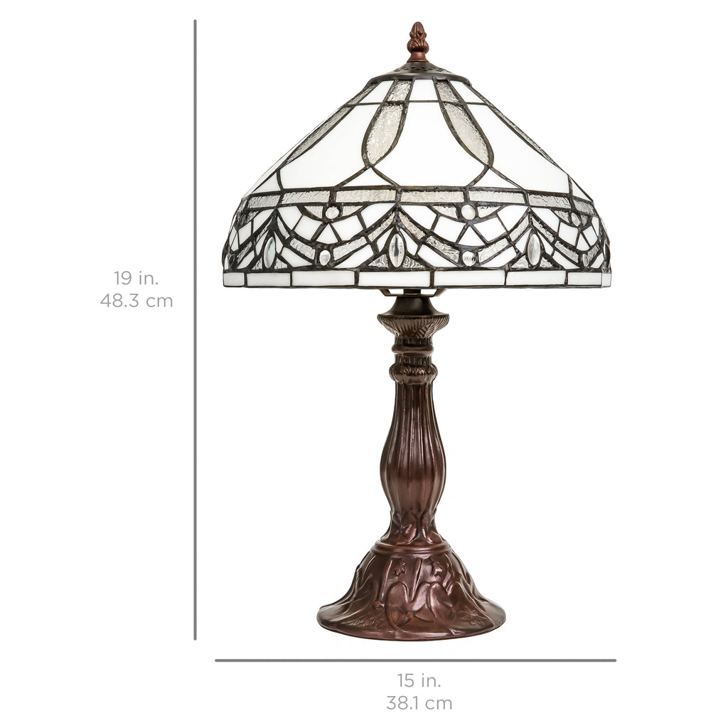 Nightstand Tiffany Style Jewel Table Lamp