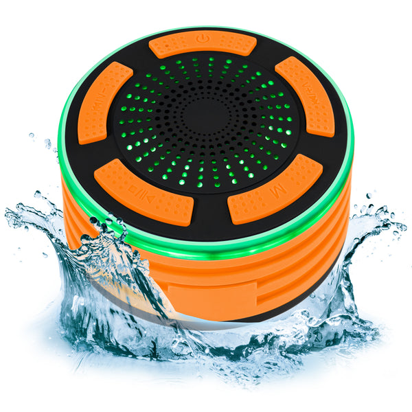 Portable IP67 Waterproof Bluetooth Speaker - Orange