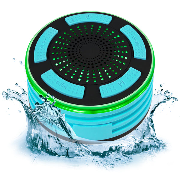 Portable IP67 Waterproof Bluetooth Speaker - Aqua Blue