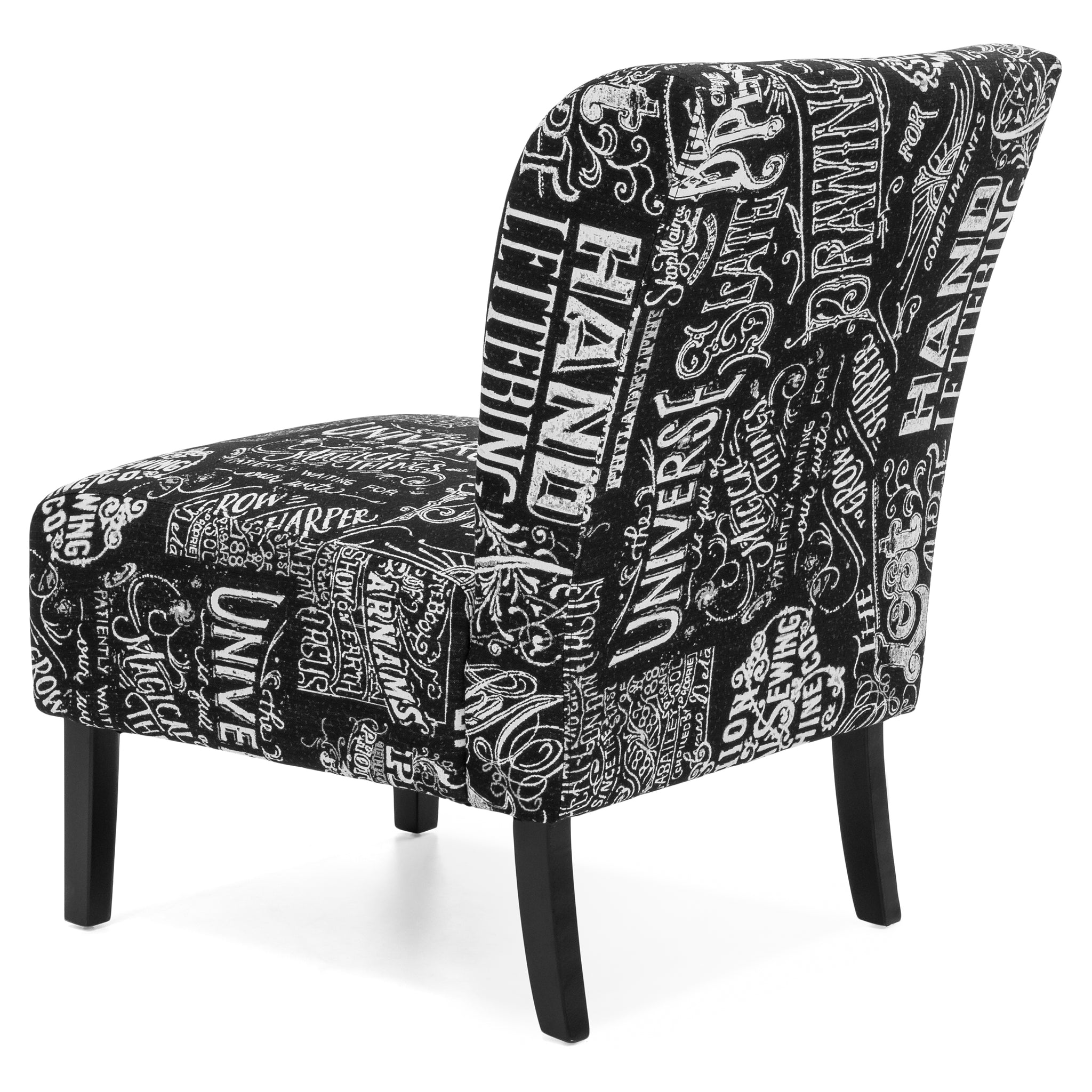 Modern Contemporary Upholstered Accent Chair Black White – Best