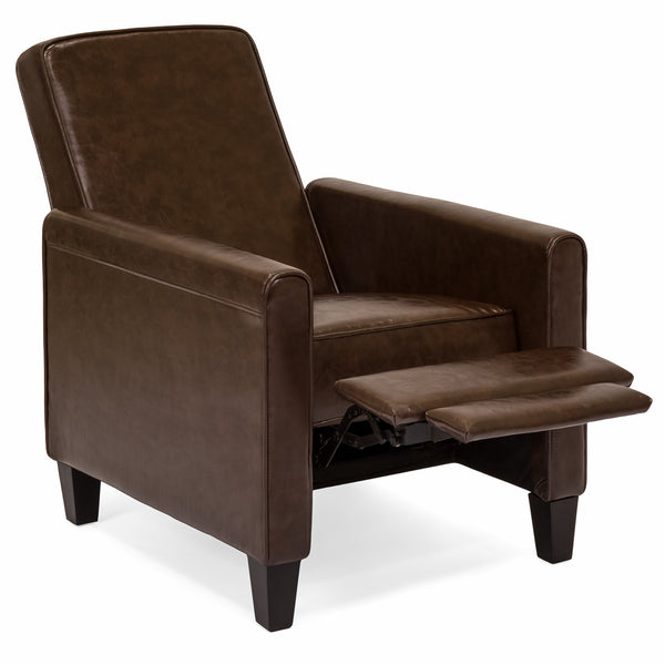 Leather Recliner - Brown