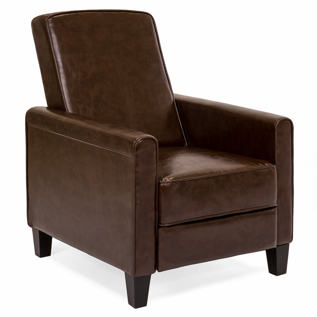 Leather Recliner Brown – Best Choice Products