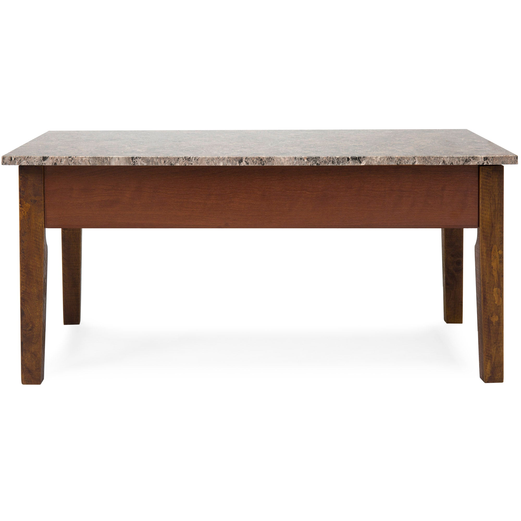 Marble Lift Top Coffee Table   Brown