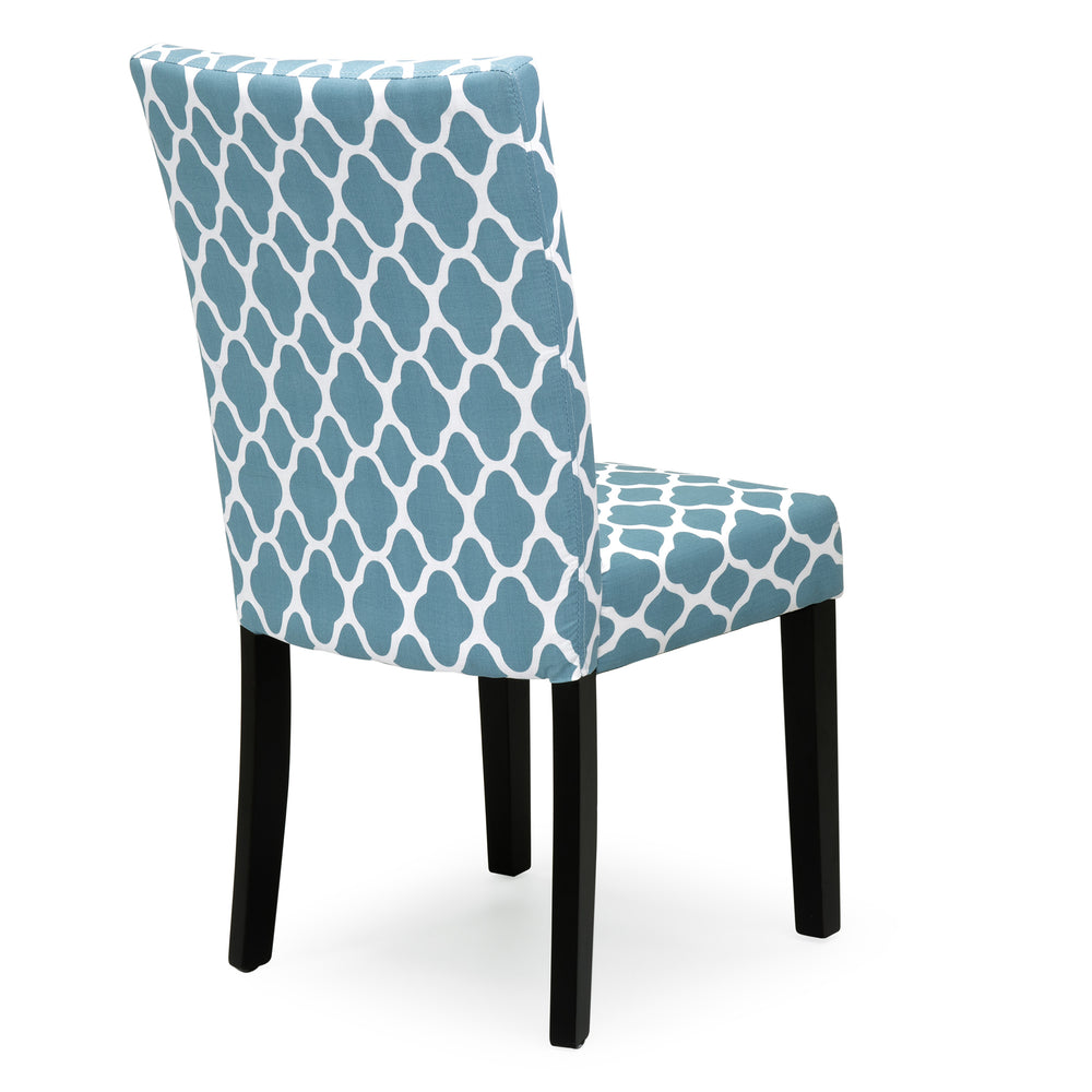 Set Of 2 Mid Century Modern Fabric Parson Dining Chairs