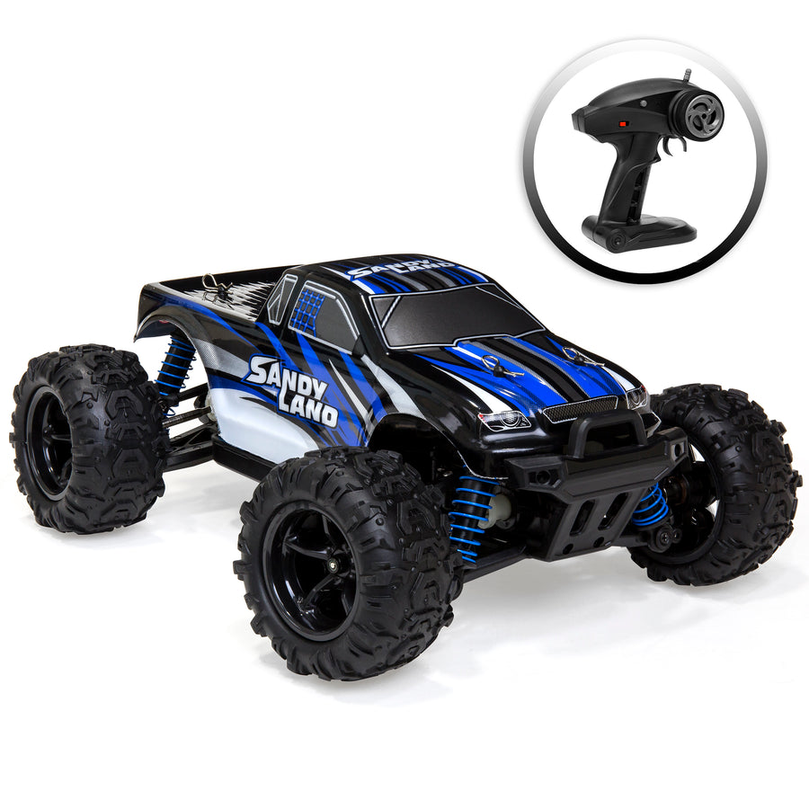 kids off road monster truck toy rc remote control car blue best