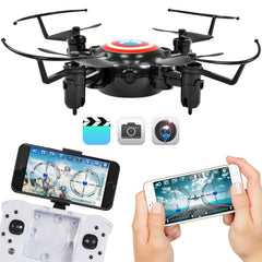 Folding 2.4GHz Nano Pocket Mini Drone Quadcopter Altitude Hold USB Charger Smart Phone Control WIFI Camera