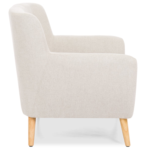 ... Mid Century Modern Tufted Accent Chair   Light Gray ...