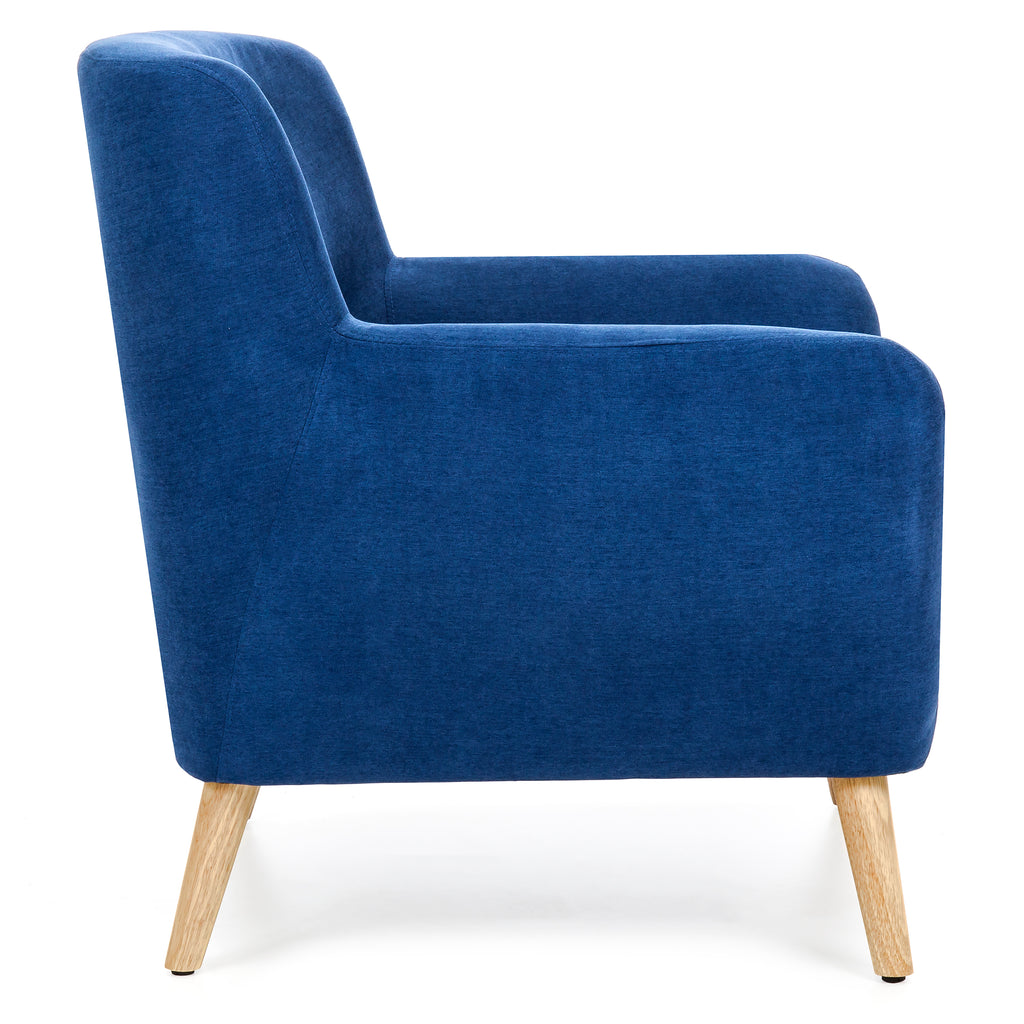 Mid-Century Modern Tufted Accent Chair - Blue