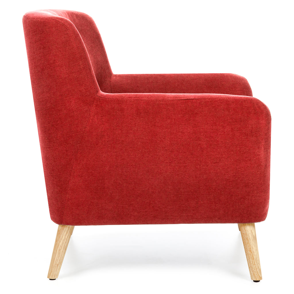 Mid century modern tufted accent chair red best choice Tufted accent chair