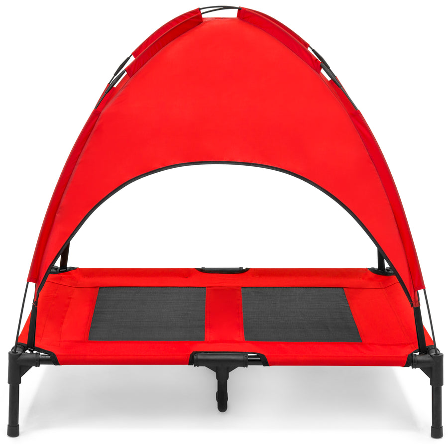 36in Raised Cooling Dog Bed - Red