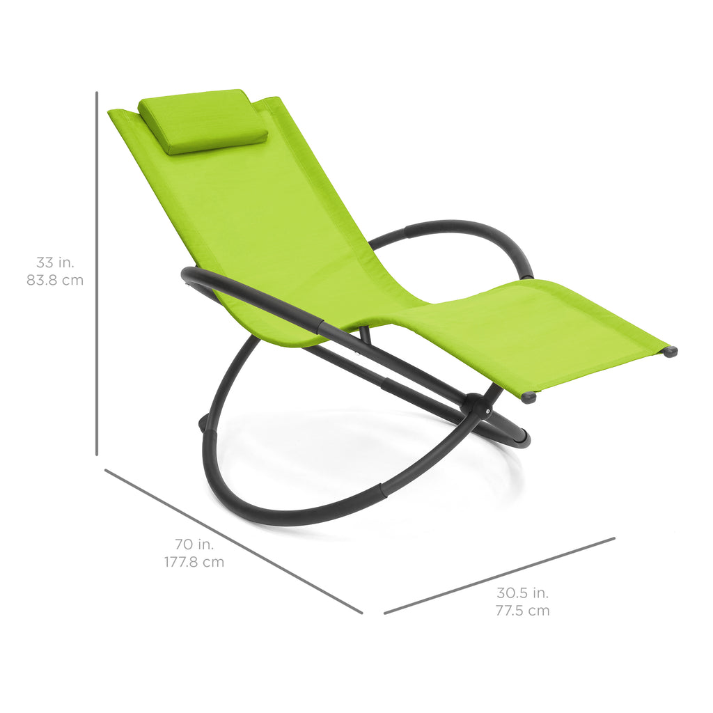 Folding Zero Gravity Chair w Removable Pillow Green – Best Choice Products