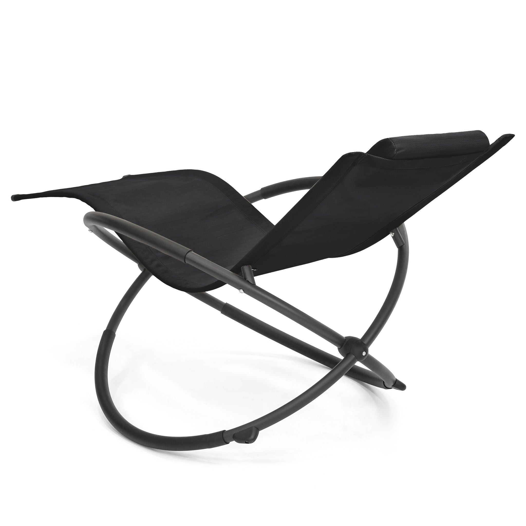 Folding Zero Gravity Chair w Removable Pillow Black – Best