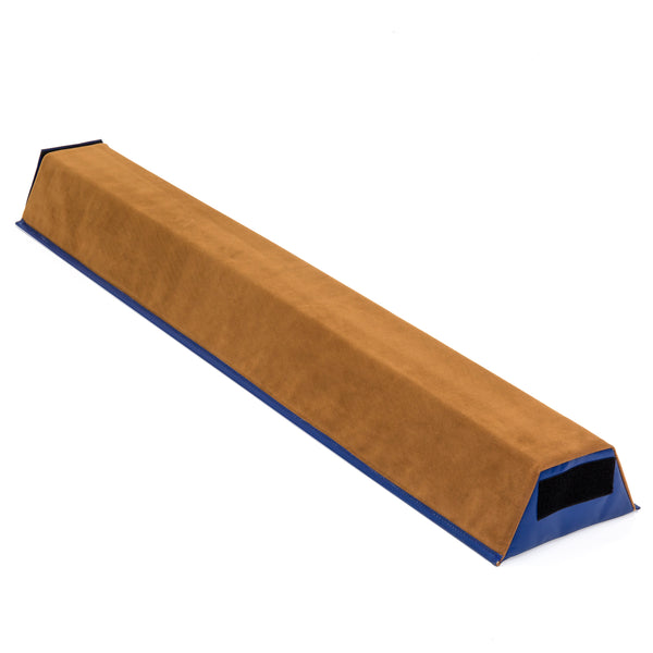 Gymnastics 4(ft) Sectional Floor Balance Beam w/ Velcro Attachments - Tan
