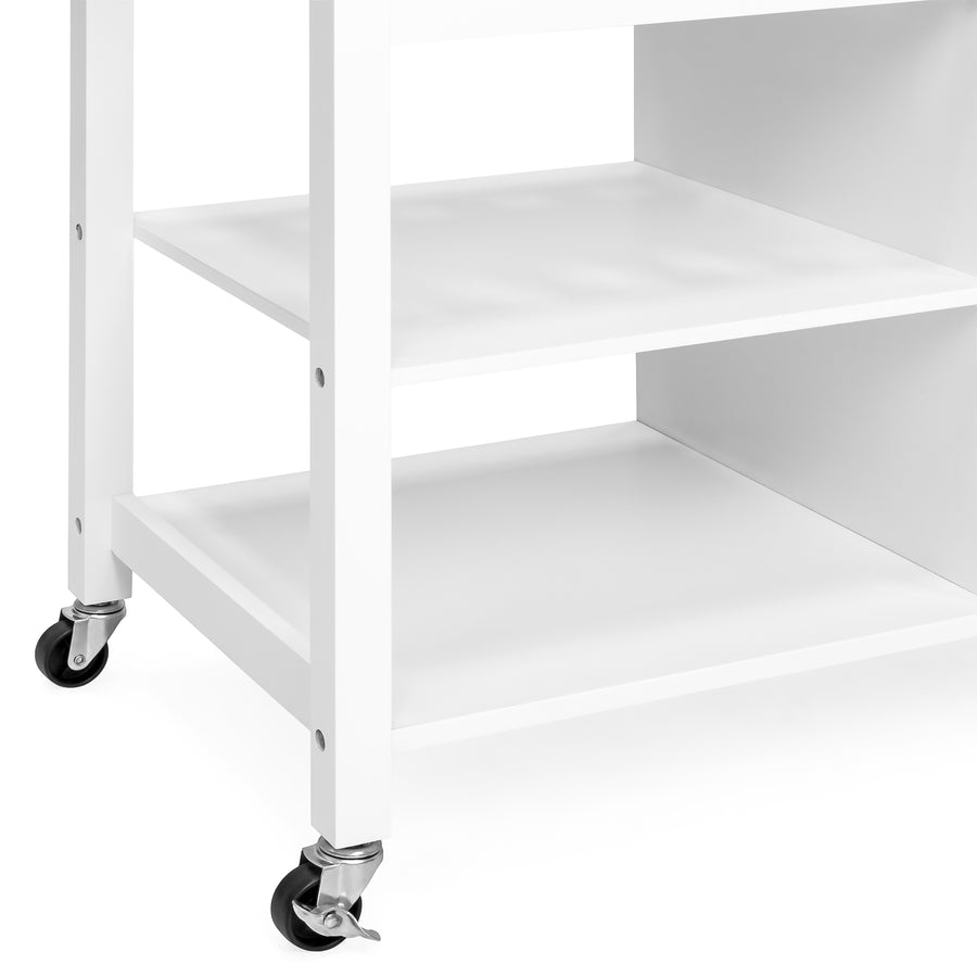 Mobile Kitchen Island Cart - White – Best Choice Products