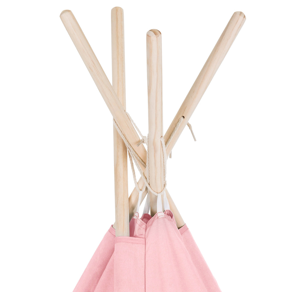 6FT Light Up Teepee Play Tent w/ Carry Case, Mat - Pink