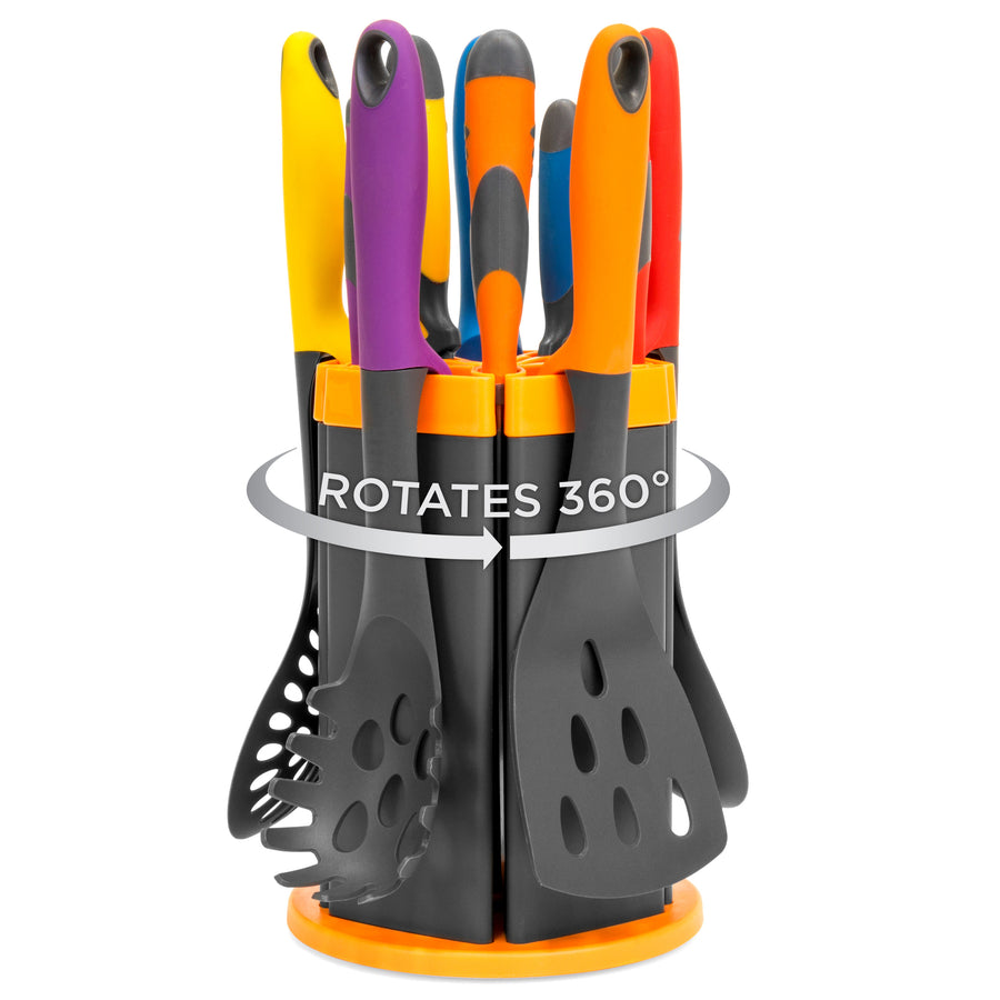 11-Piece Knife Utensil Set with Rotating Stand