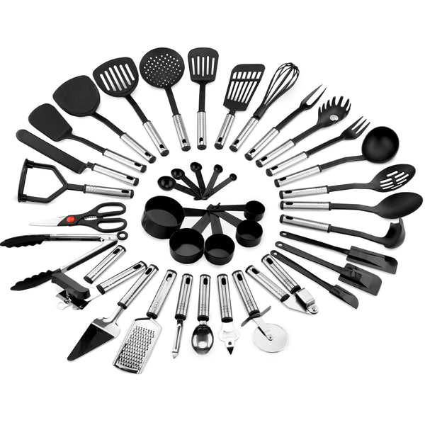 39-Piece Stainless Steel Cooking Utensils Set