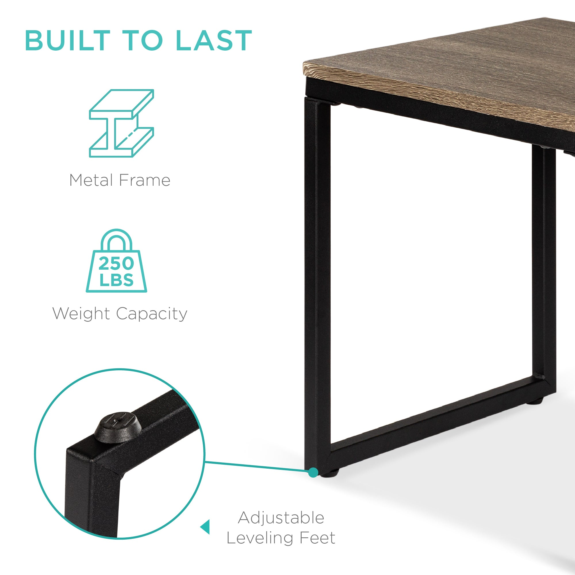 3-Piece Nesting Coffee End Table Set