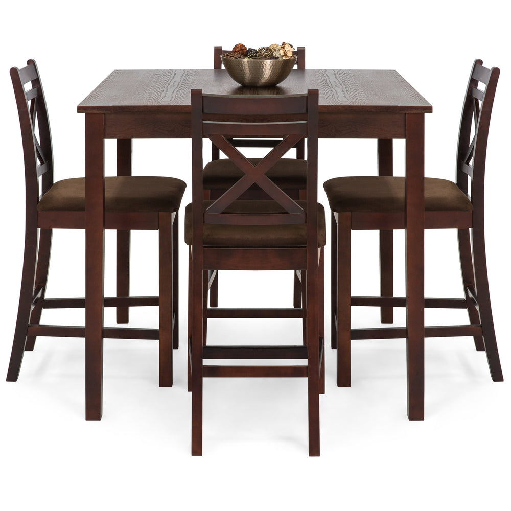 5-Piece Square Dining Table Set w/ 4 Chairs - Espresso  sc 1 st  Best Choice Products & 5-Piece Square Dining Table Set w/ 4 Chairs - Espresso u2013 Best Choice ...
