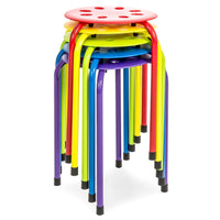 BestChoiceProducts.com deals on Set of 5 Backless Plastic Stools Multicolor