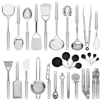 Deals on Best Choice Products 29-Piece Stainless Steel Kitchen Cooking Utensil Set