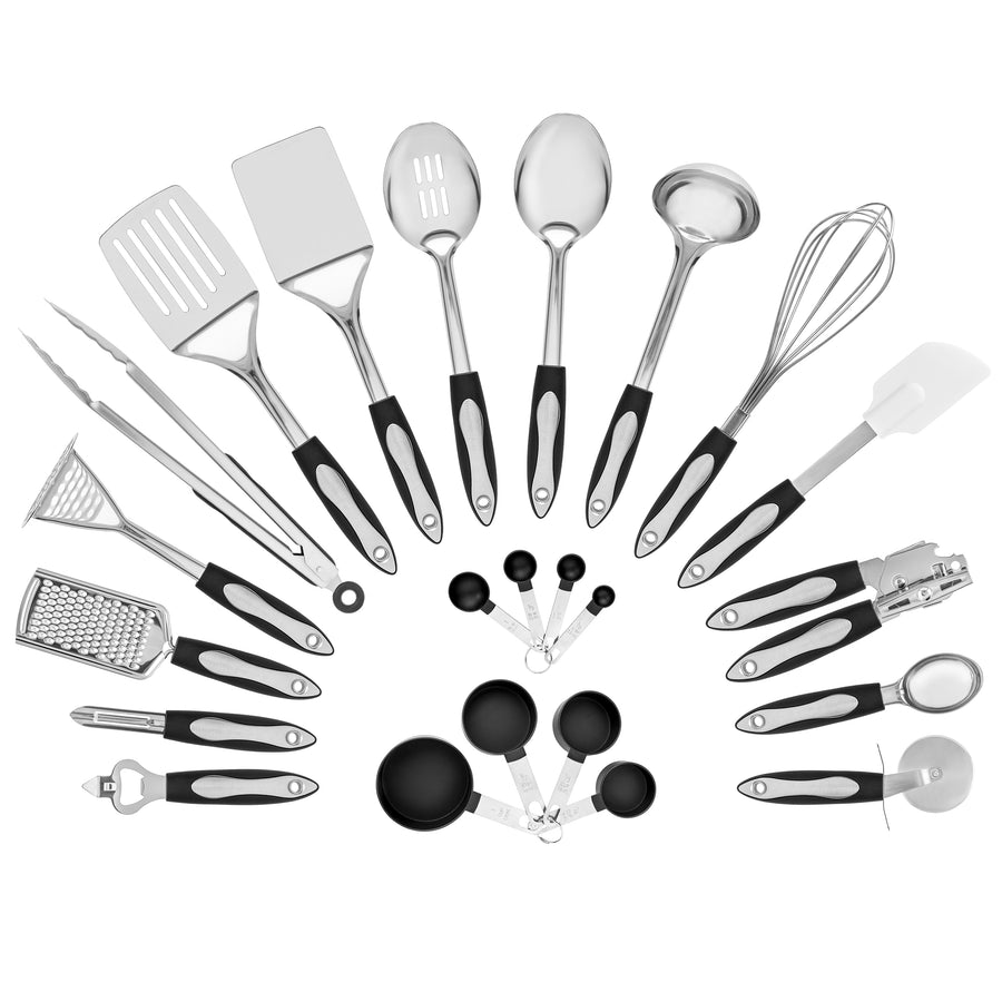 23 Piece Stainless Steel Cooking Utensils Set
