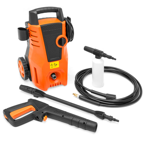Power Wash Sprayer Machine 1522 PSI for Outdoor, Patio, Industrial Cleaning - Orange