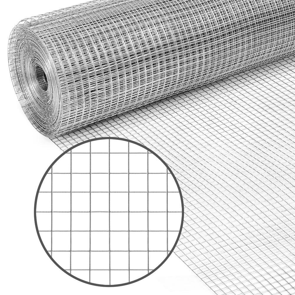 3x50ft 1/2in Mesh Wire Guard - Silver – Best Choice Products