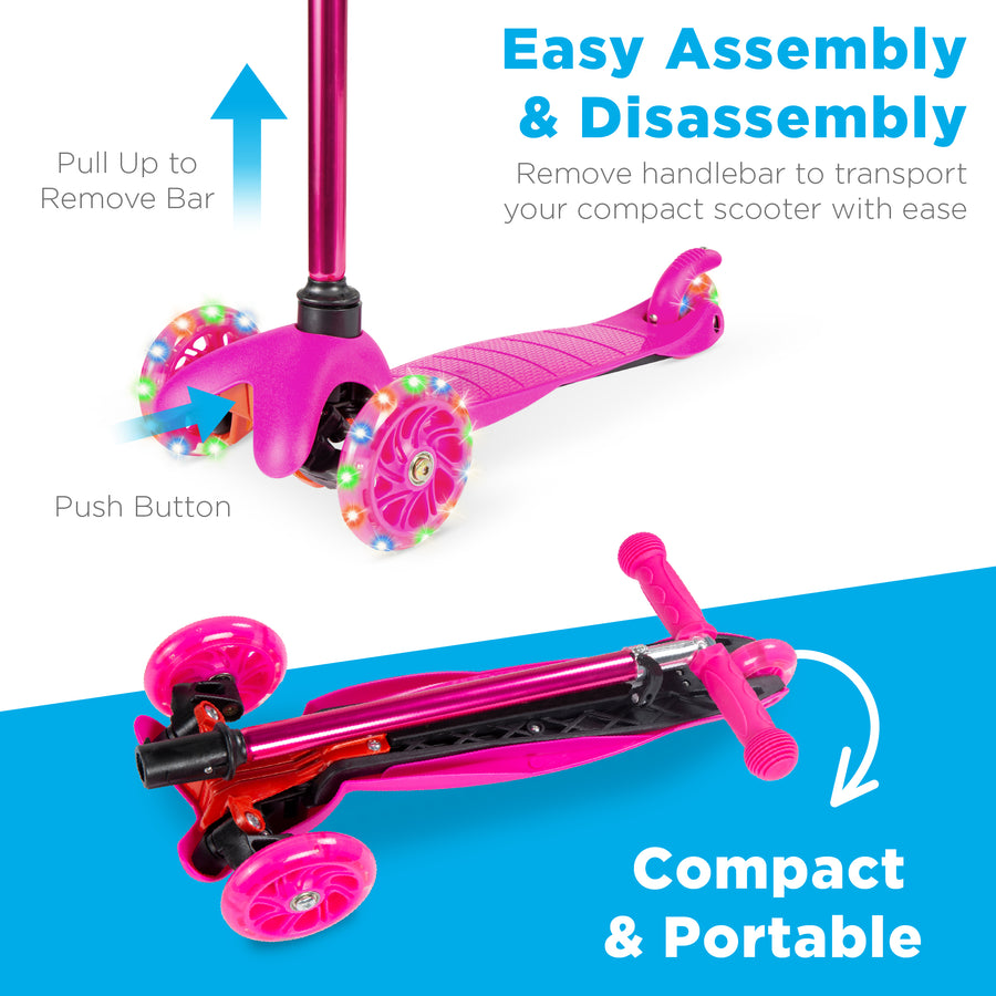 Kids Mini Kick Scooter - Pink