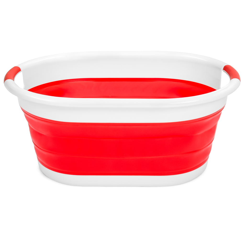Collapsible Laundry Basket Storage Container - Red