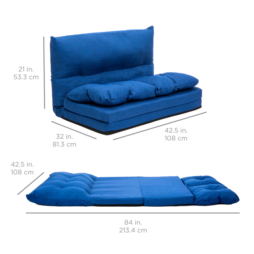 Linen Folding Lounge Futon Gaming Couch Chair