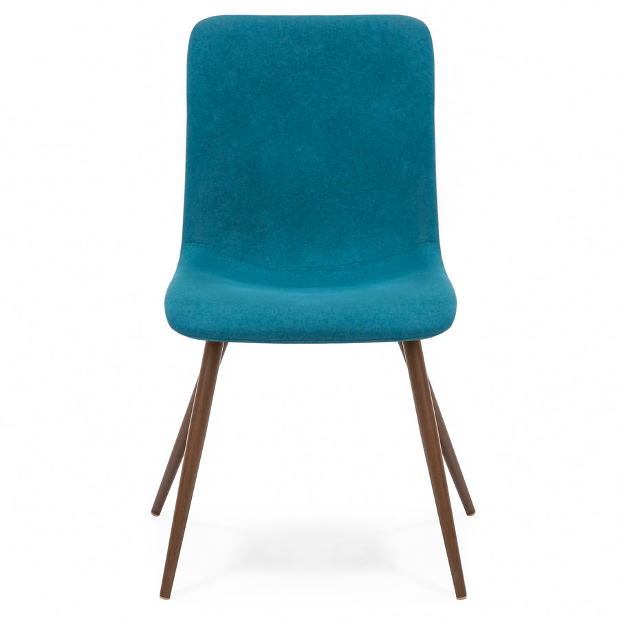 Set of 4 Mid Century Modern Dining Chairs - Teal