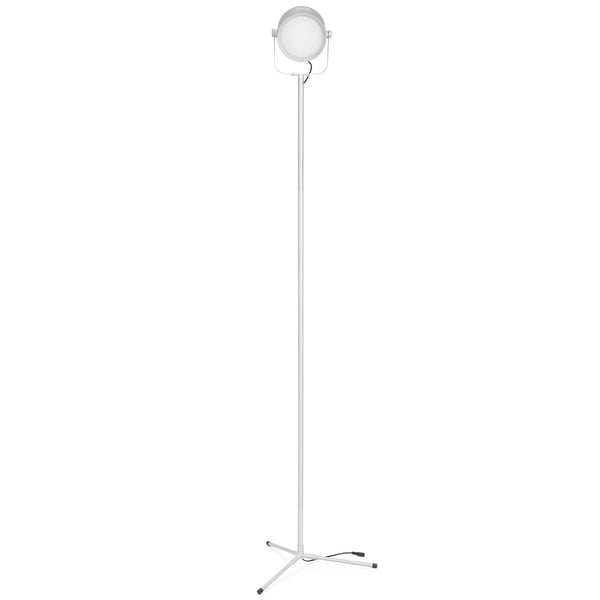 57in 700 Lumens Adjustable LED Floor Lamp w/ Remote Control, 8 Levels - Silver