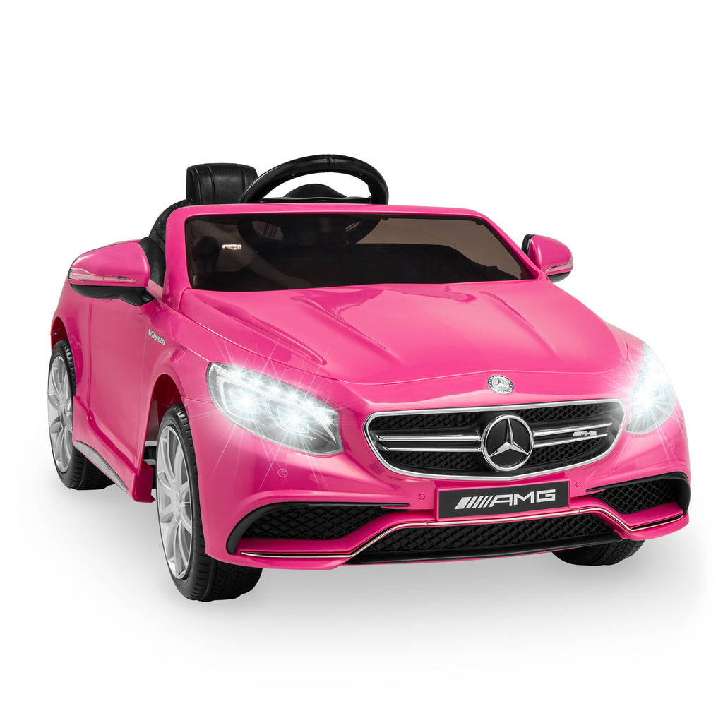 12V Kids Licensed Mercedes-Benz S63 Coupe Ride-On Car w/ Parent Control