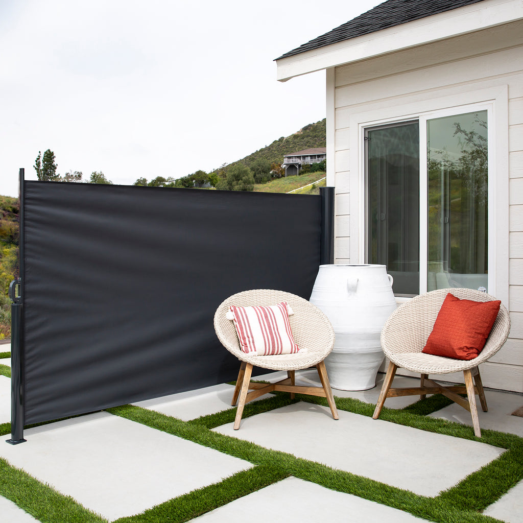Retractable Privacy Side Awning w/ Alloy Frame – Best