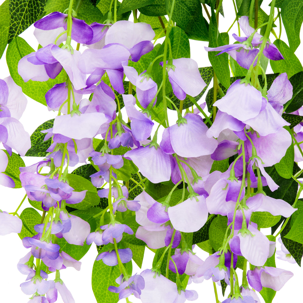 12-Pack Artificial Silk Vine Wisteria Flower Plant Decor