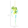 12-Pack Artificial Silk Vine Wisteria Flower Decor - Blue